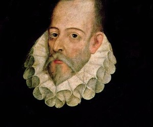 "English: Portrait of Miguel de Cervantes Saavedra commonly said to be that which, according to the prologue to Cervantes' ""Exemplary Novels"", was painted by Juan de Jáuregui. Modern scholarship does not accept this, or any other graphic representation of Cervantes, to be authentic."