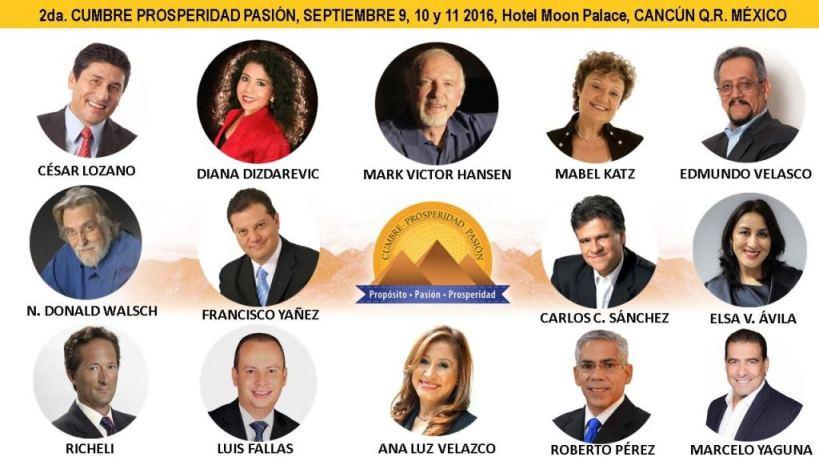 Presentadores 2da. Cumbre del Exito 2016